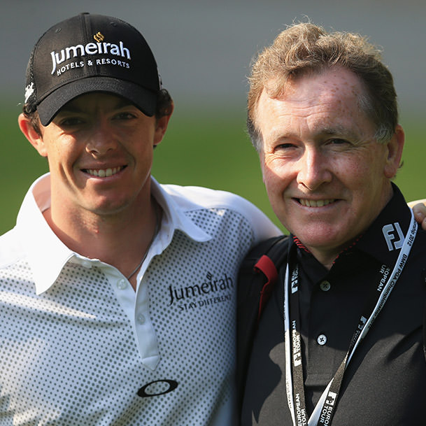 Rory with Michael Bannon